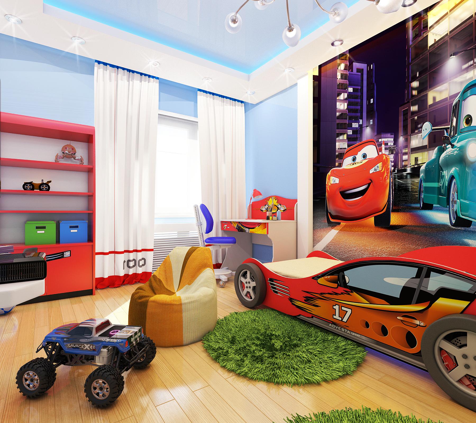 Интерьеры детской комнаты для мальчика до 5 лет фото