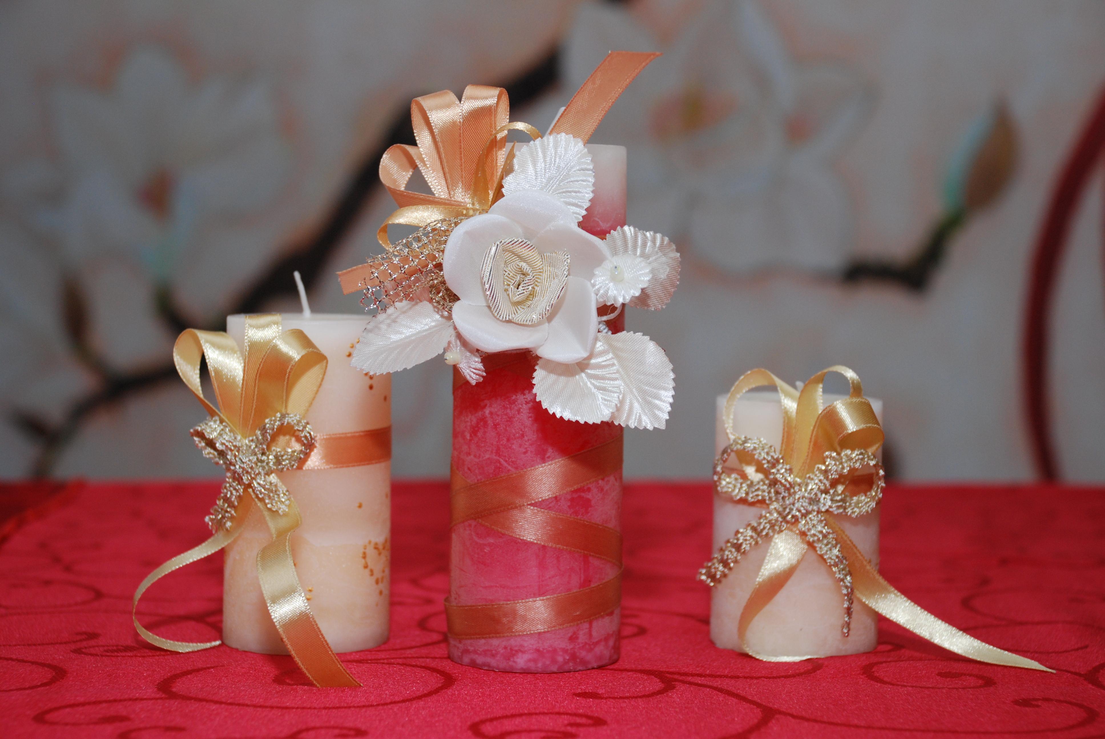 Свадебные свечи своими руками украсить фото