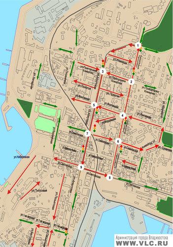 схема дорожного движения